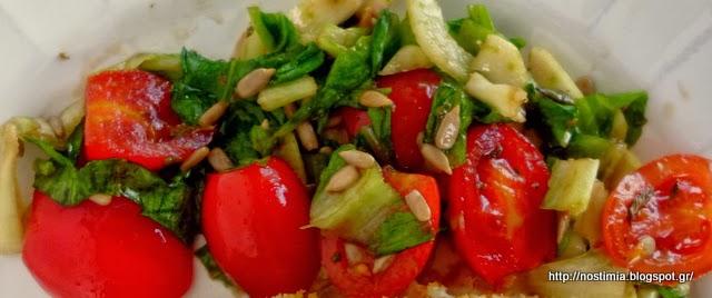 Ογκρατέν κουνουπίδι με πορτομπέλο, κρέμα τυριών κ κρούστα καρυδιού