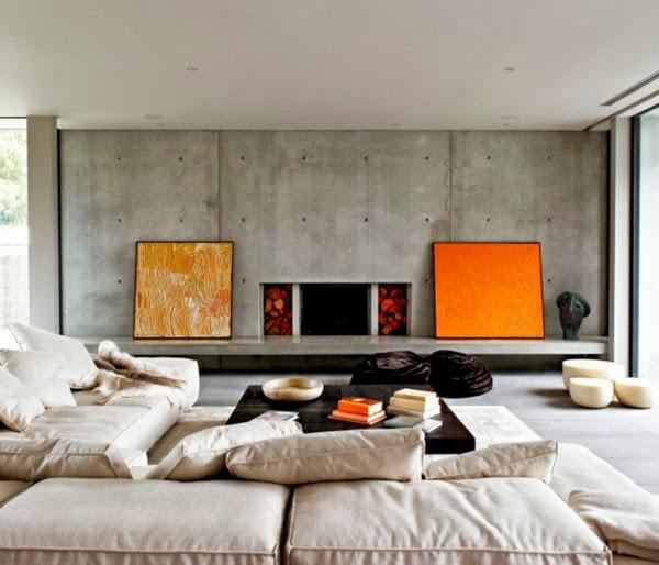 Salas decoradas con paredes de concreto salas con estilo - Paredes de cemento ...