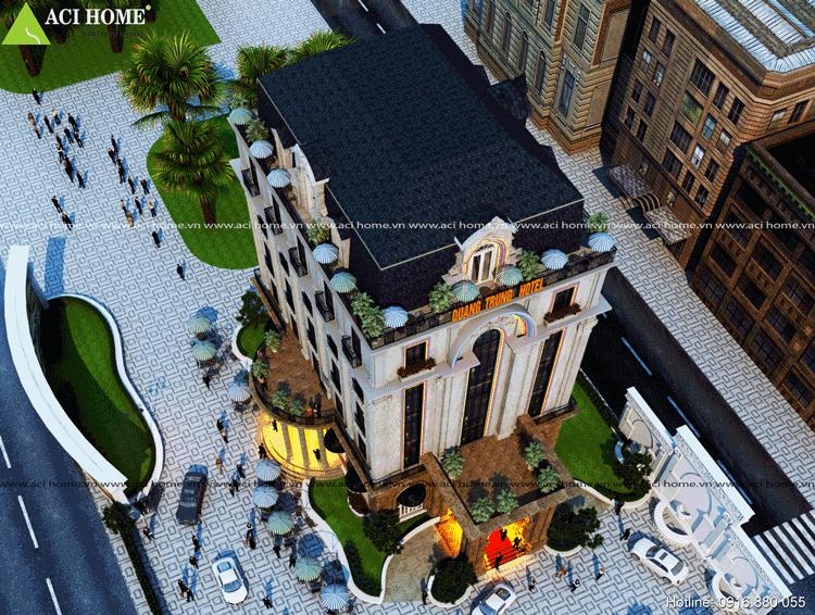 Thiết kế khách sạn cổ điển 7 tầng tại Bắc Ninh
