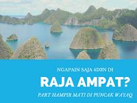 Ngapain Saja 4D3N di Raja Ampat? Day 2: Hampir Mati di Puncak Wayag