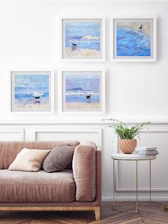 border collie prints in frames