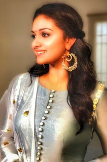 Keerthy Suresh in Yash Color Dress with Cute and Lovely Smile