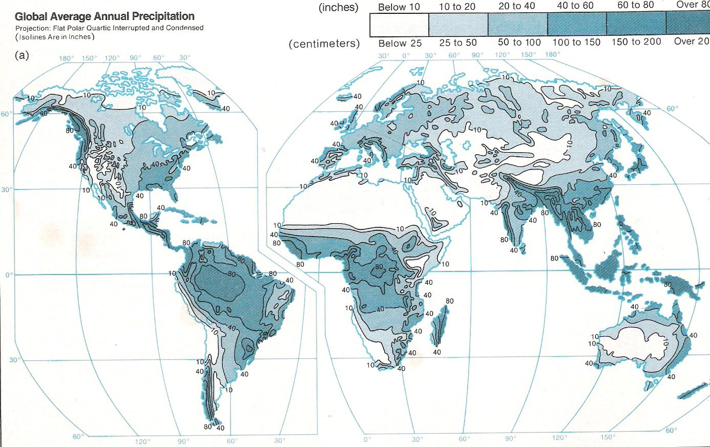 Precipitation World Map.Average Annual Days With Precipitation World Map Gif 690x506