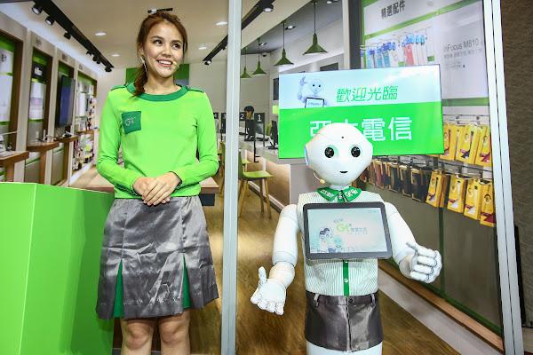 鴻海旗下沛博科技將攜手亞太電信,把Pepper帶進台灣。圖片來源:蔡仁譯攝影。