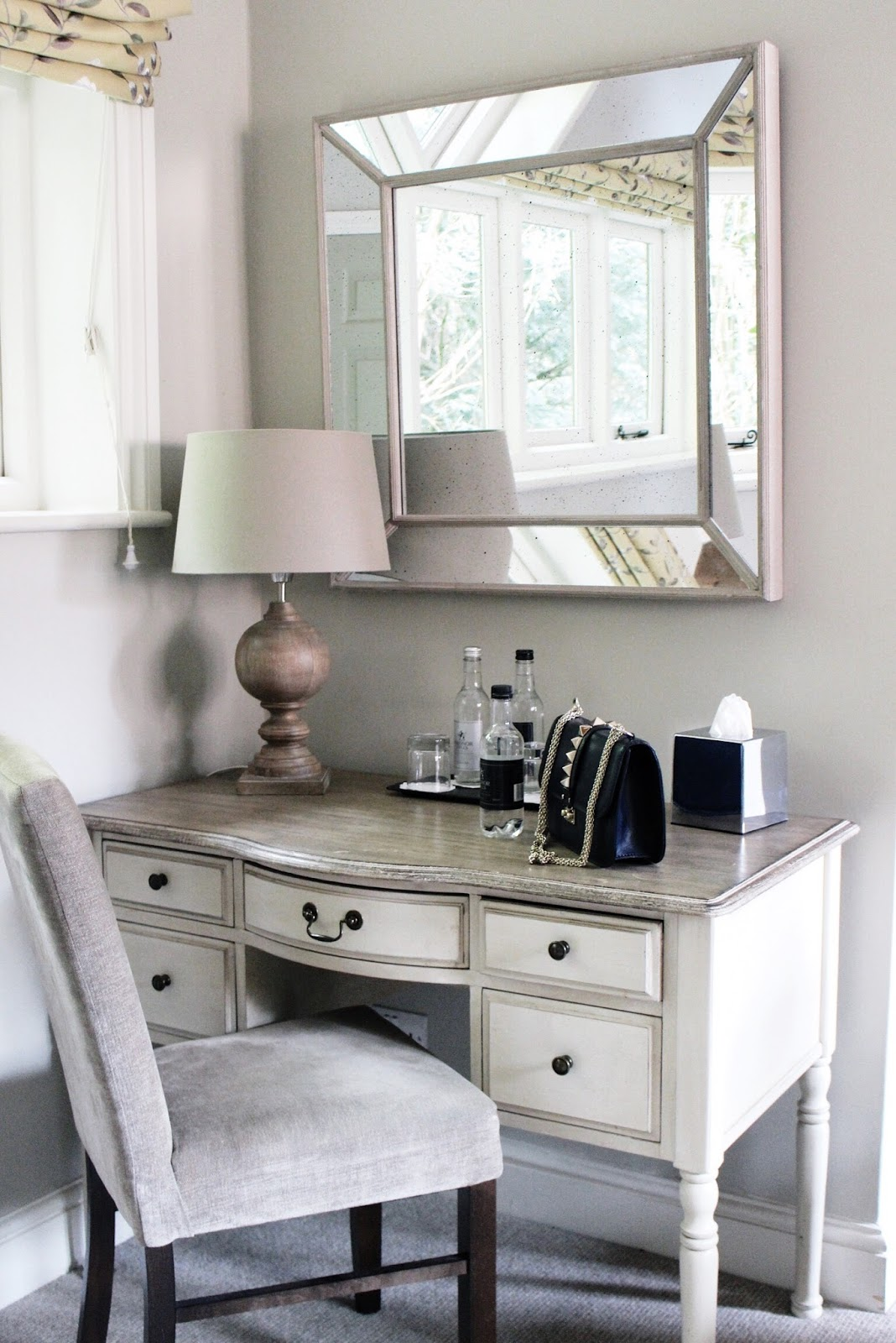 Chic Dressing Table in Hotel Suite