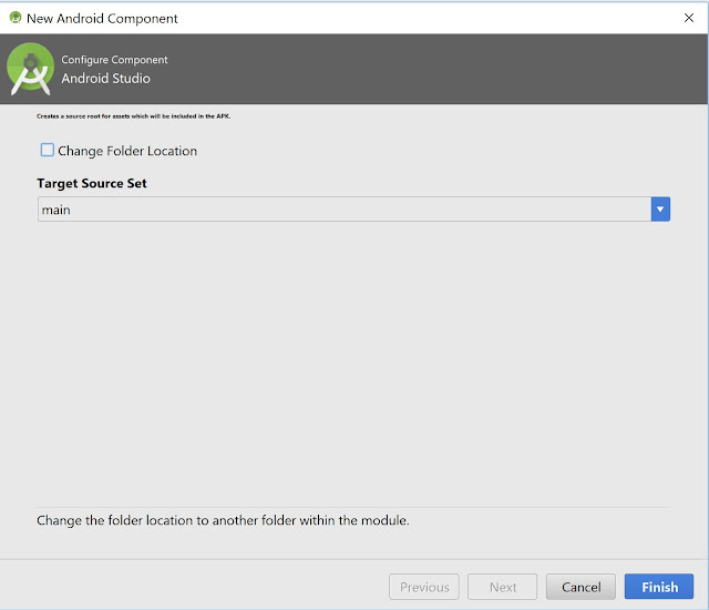 configure component assets