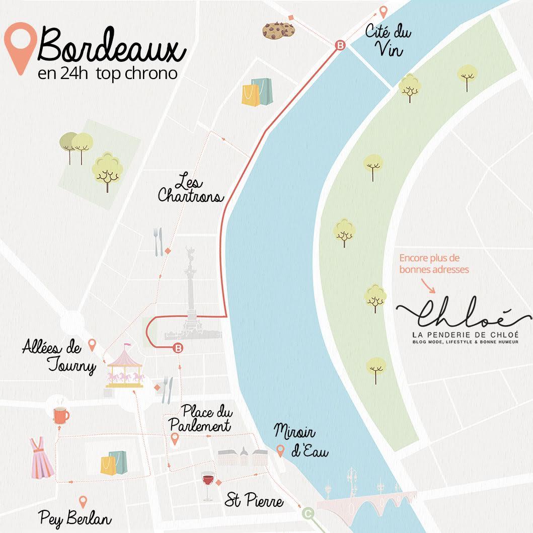 Carte illustrée Bordeaux