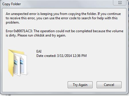 Fix An Unexpected Error Is Keeping You From Copying The