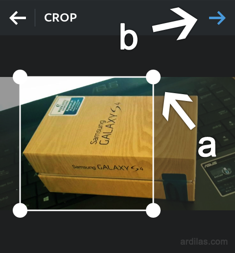 Crop - Cara Edit Foto/Photo Dengan Memberi Efek Foto Instagram