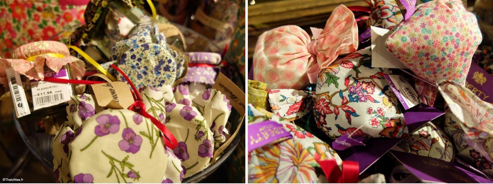 Liberty London pochons lavande 5ème étage fabric tissu fleuri anglais imprimé
