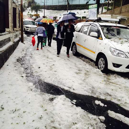 Hailstone in Darjeeling 3