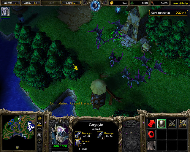 The Fall of Silvermoon Mission 16 | Gargoyle Screenshot | Warcraft 3: Reign of Chaos