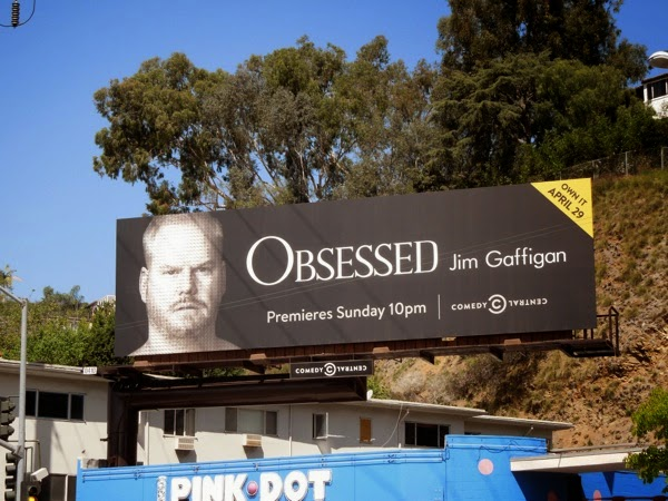 Obsessed Jim Gaffigan Comedy Central billboard