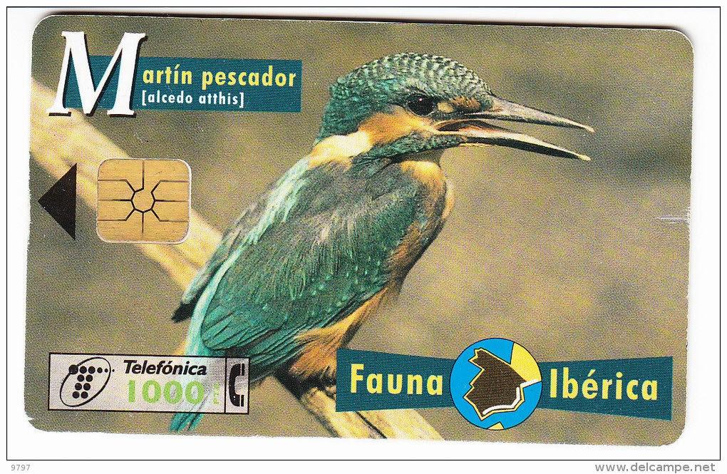 Tarjeta telefónica Martín pescador (Alcedo atthis)
