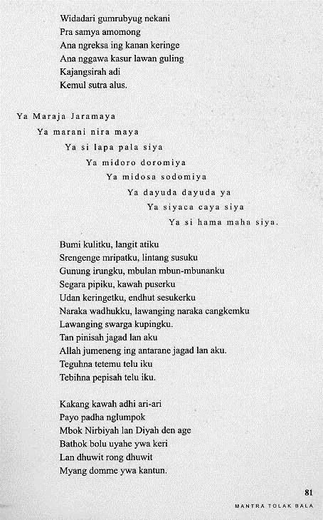 contoh analisis Puisi Mantra Tolak Bala  analisis puisi