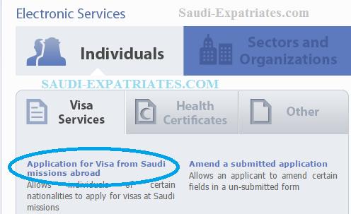 Enjaz form for saudi visa service