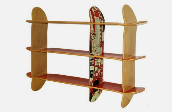 Do it yourself ideas and projects 19 diy awesome skateboard crafts diy racks skateboard crafts solutioingenieria Choice Image