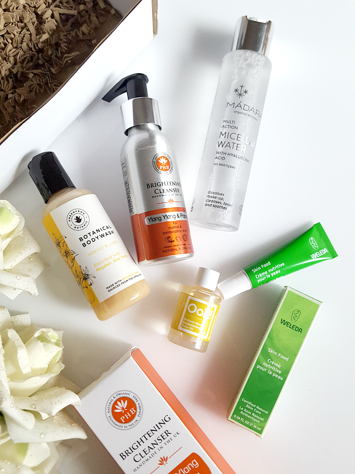 LoveLula Beauty Box Februar 2017 - Madara, PHB Ethical Beauty, Greenfrog Botanic, Ohh! Oils of Heaven, Weleda