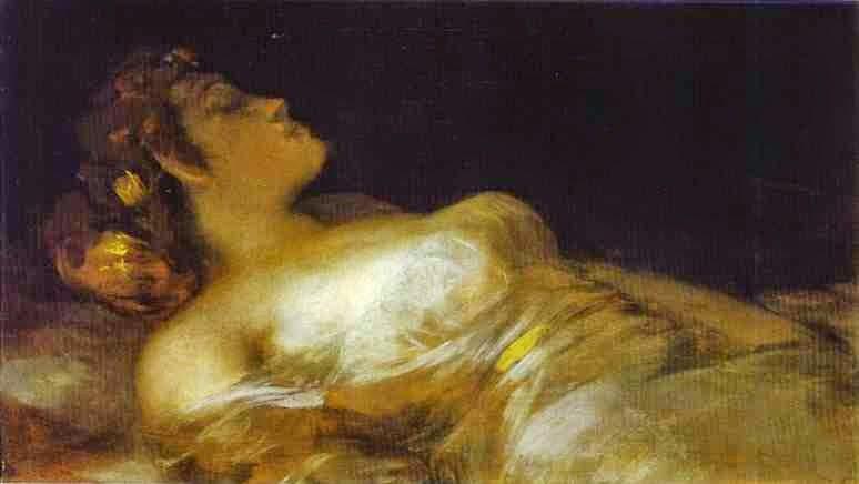 Dormindo - Goya, Francisco e suas pinturas ~ Foi um importante pintor espanhol da fase do Romantismo