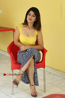 Cute Telugu Actress Shunaya Solanki High Definition Spicy Pos in Yellow Top and Skirt  0445.JPG