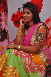 Lucky Sree in dasling Pink Saree and Orange Choli DSC 0340 1600x1063.JPG