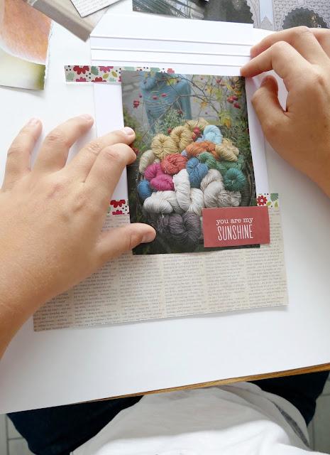 mit Strich und Faden: Notizblock Collage zusammenstellen