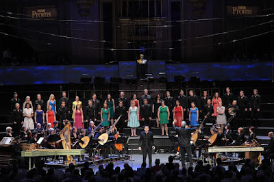 Monterverdi L'Orfeo at the Proms, Sir John Eliot Gardiner, Krystian Adam, Monteverdi Choir, English Baroque Soloists - photo credit BBC/Chris Christodoulou