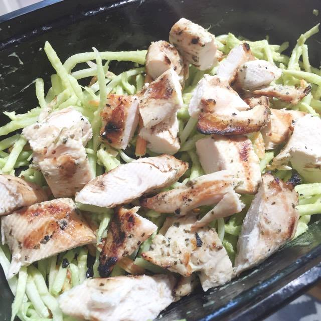 Tex Mex Broccoli Slaw With Grilled Chicken