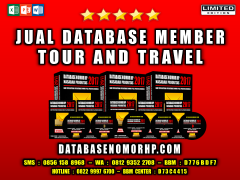 Jual Database Member Tour And Travel