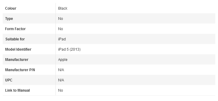 iPad 5 Additional Informations