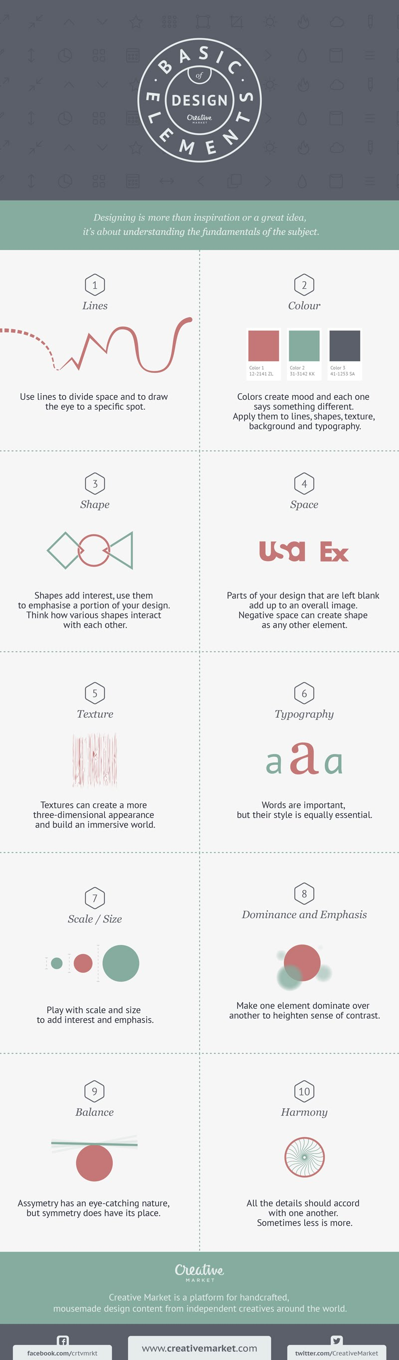 10 Basic Elements of Design - #infographic