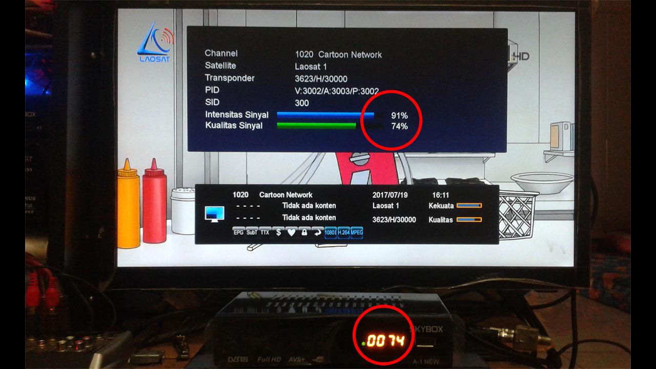 Tampilan Kualitas sinyal led Skybox A1 New AVS+ Terbaru