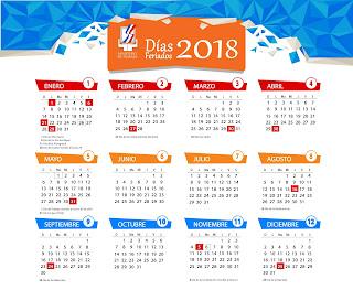 Ministerio de Trabajo reitera feriados correspondientes al año 2018