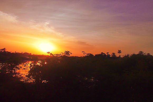 sunset gambia