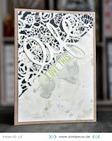 Kartenwind : die-cut stencil card #kartenwind #ranger #timholtz #stencil #watercolor #kesiart #danipeuss