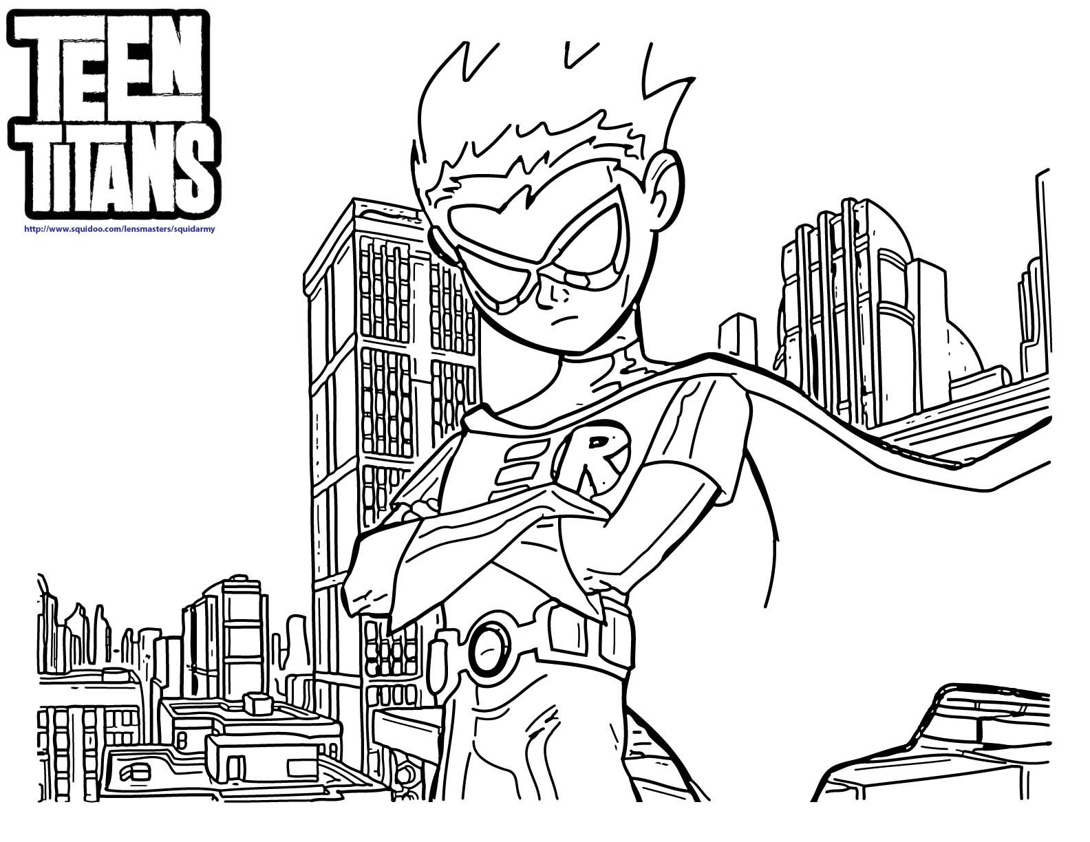 Teen Titans Go Coloring Pages - Squid Army-5061