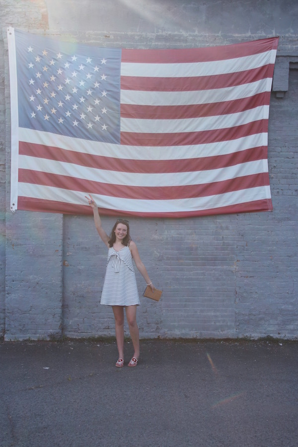 Gimme Glamour: Fourth of July. Striped J.O.A. dress