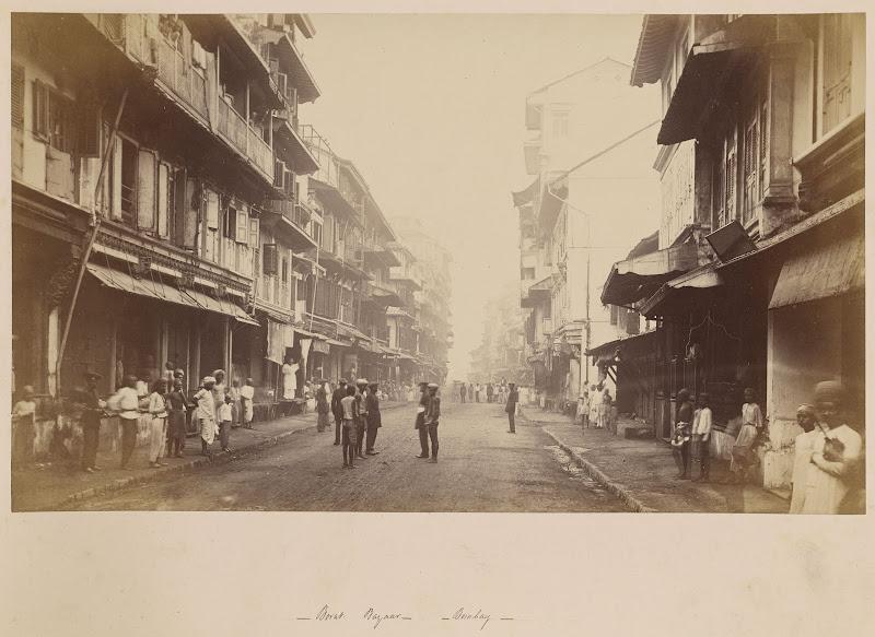 Borat Bazaar, Bombay (Mumbai) - Circa 1870s