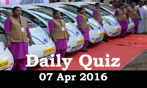 Daily Current Affairs Quiz - 07 Apr 2016