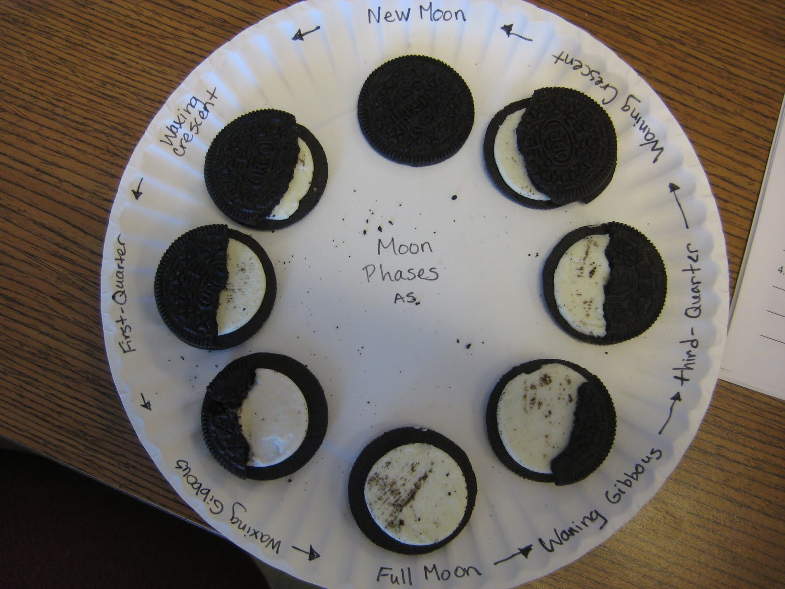 Click Moon Phases With Oreo Cookies