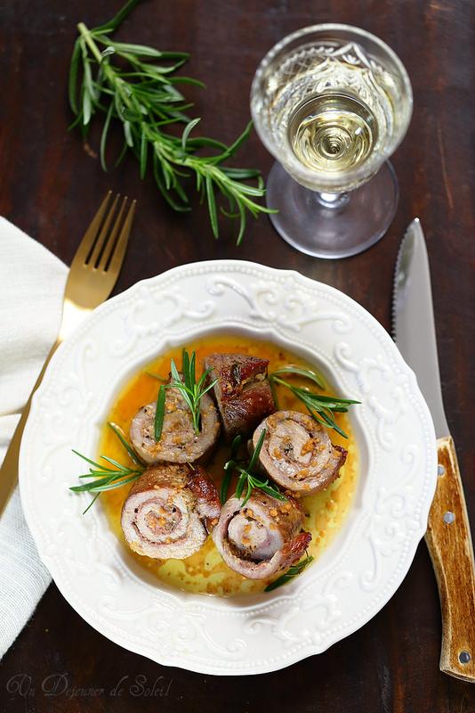 Recettes de l'Émilie-Romagne (roulés de viande parmesan et jambon)