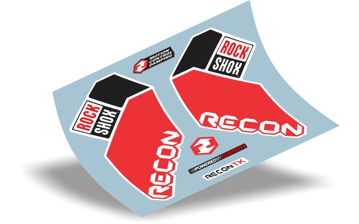 Stickers Design Adesivo Suspensão Rock Shox Recon Tk