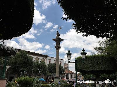 Main square of Quiroga, Michoacan