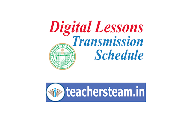 Digital Lessons Transmission Schedule