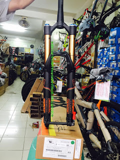 Fork 27.5 inch Fox Talas 36 Travel 160-130 Kashima Coat 3pos Fit4 Taper Ta15 Black Orange Logo 2017