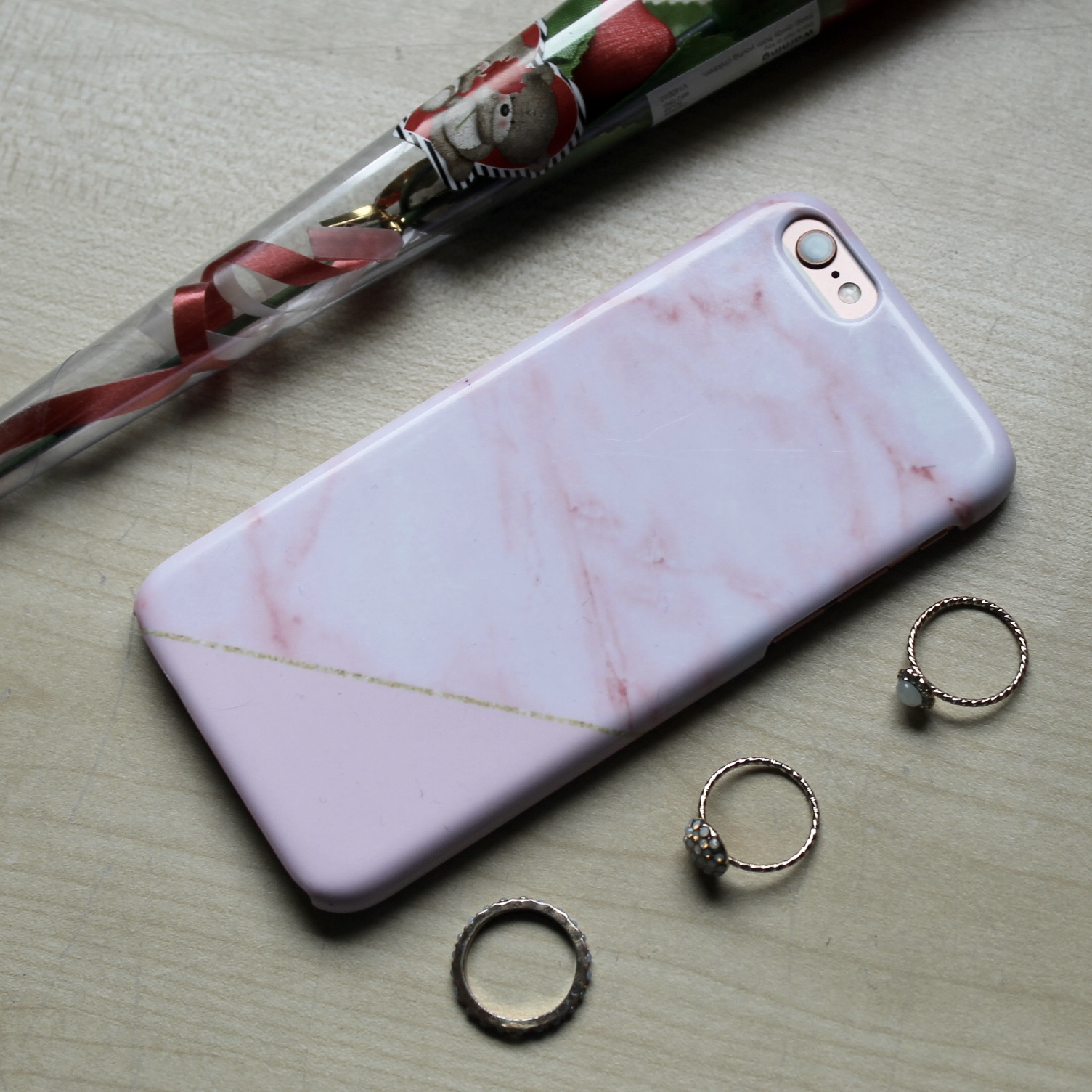 Coconut Lane Pink Marble Phone Case