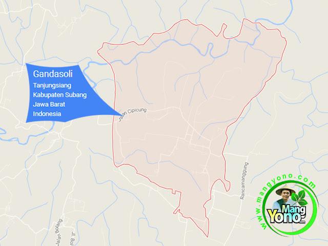 PETA : Desa Gandasoli, Kecamatan Tanjungsiang