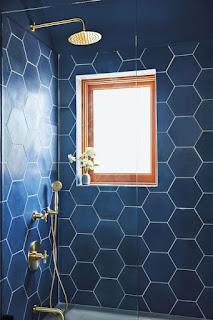 motif keramik dinding kamar mandi warna biru