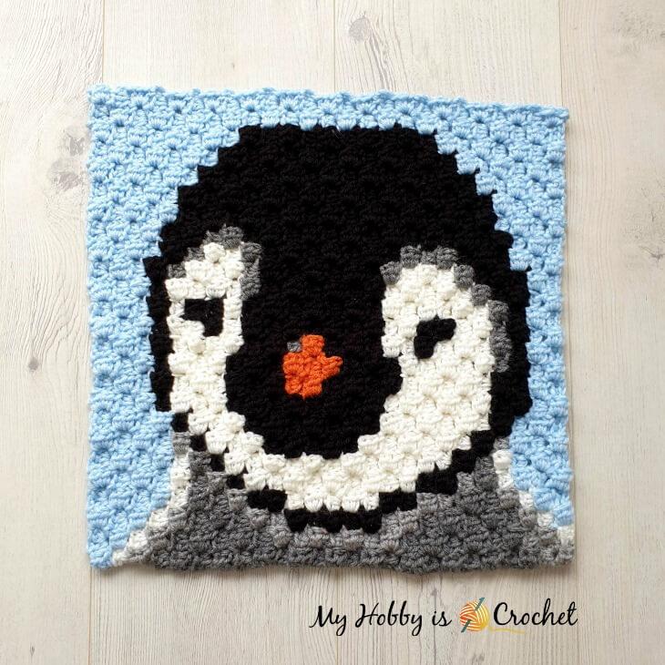 Baby Penguin C2C Square