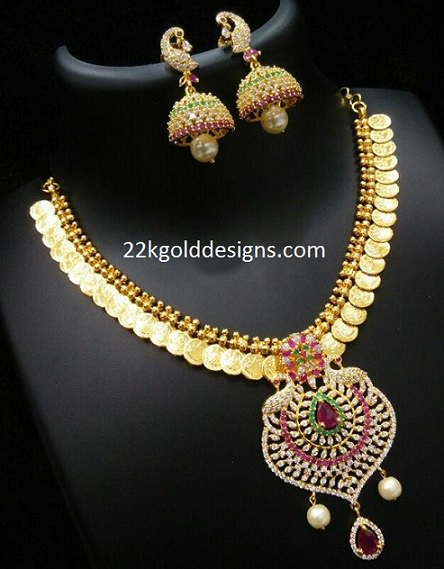 Imitation Lakshmi Kasu Necklace